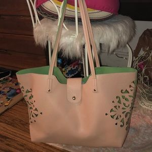 Pink and Green Avon Tote